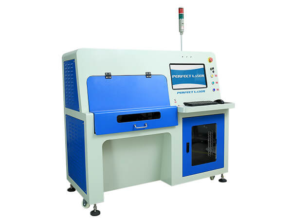 Fiber Laser Scribing Cutting Machine for Solor Cell Polycrystalline Silicon -PE-20W/50W (II)