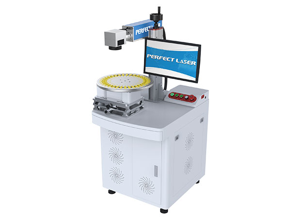 Animal Ear Tags Fiber Laser Marking Machine On Plastic Parts -PEDB-420