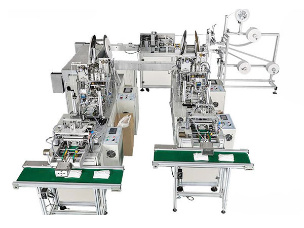 Fully Automatic Disposable Ear-loop 3ply Non Woven Face Mask Making Machine-PE-M3